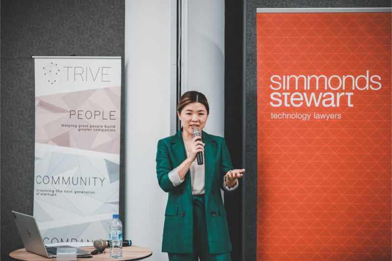 Sarah Yen speaking on founders agreements and other startup law matters